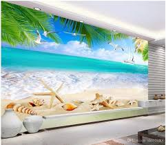 Large Beach Wall Murals Caribbean Cheap Removable Art Peel And Stick Outdoor Uk 3d Themed Vamosrayos