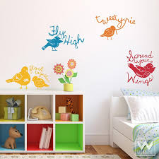 Sweet Tweets Birds Vinyl Wall Decorative Decal For Nursery Room Walls Wallternatives