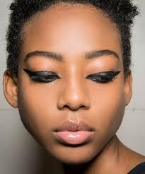 dramatic black eye makeup is back here