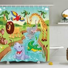 Ambesonne Kids Elephant Friends Decor Shower Curtain Shower Curtains Boutique