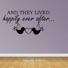 And They Lived Happily Ever After Wall Art Stickers Wall Decal Home Diy Decoration Wall Mural Room Decor Wall Stickers Wall Sticker Decorative Wall Stickerswall Art Stickers Aliexpress