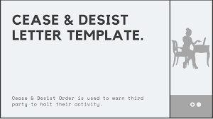 cease and desist order information and