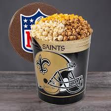 new orleans saints popcorn tin by