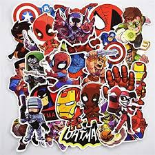 Bestpicks 100 Pcs Superhero Sticker Snowboard Car Styling Sleigh Box Luggage Fridge Laptop Toy Vinyl Decal Home Decor Cool Stickers Price In Uae Amazon Uae Kanbkam