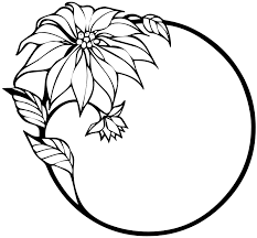 clipart flower black and white clipart