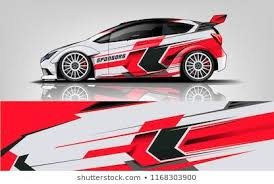 Car Decal Wrap Design Vector Graphic Abstract Stripe Racing Background Kit Designs For Vehicle Race Car Rally Advent Car Decals Car Wrap Car Sticker Design