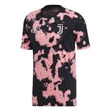 Juventus maglia pre partita rosa nero ...