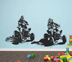 Atv Quad Bikes Wall Decals Racing Atv Off Road Stickers Atv Etsy Kids Room Wall Decor Kids Bedroom Wall Decor Wall Decals