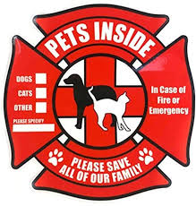 Amazon Com Petsavers Pet Inside Sticker Static Cling Rescue Window Decals With Bonus Pet Saver Wallet Card No Adhesive Red 4 Count Office Products