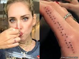 chiara ferragni s 26 tattoos meanings
