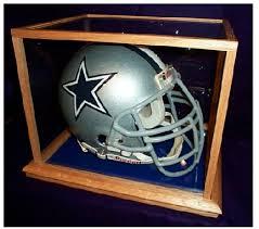 glass football helmet displays highest