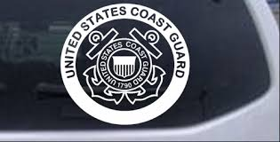 United States Coast Guard Car Or Truck Window Decal Sticker Rad Dezigns
