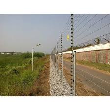 Mild Steel Square Solar Electric Fencing For Farm Protection Rs 190 Square Meter Id 19640334412