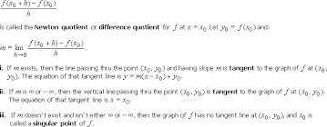 2 1 tangent lines and their slopes