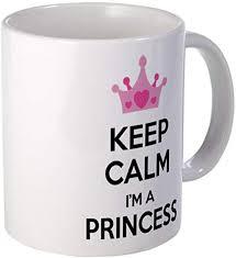 Amazon Com Demon Decal Mug Keep Calm I M A Princess Mug 15 Ounce Ceramic White Coffee Tea Cup Kitchen Dining