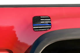 Car Gear Toyota Tacoma 2016 2017 Gas Cap Decal Fuel Door Graphic Truck Sticker Blue Line Flag