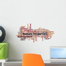 Human Resources Word Cloud Wall Decal By Wallmonkeys Peel And Stick Graphic 18 In W X 9 In H Wm69825 Walmart Com Walmart Com
