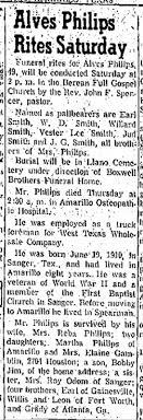 Reba (Smith) Philips husband's Obit - Newspapers.com