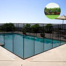 4x12 In Ground Swimming Pool Fence Child Barrier Pool Safety Mesh Fence Section Ebay