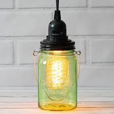light lime green glass mason jar