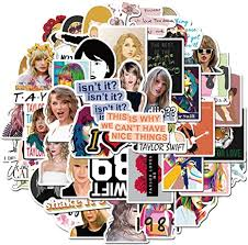 Amazon Com Singer Taylor Swift Stickers For Waterbottle And Laptop Cool Vinyl Decal For Teen Girl Skateboard Phone Travel Case Computer Guitar