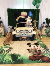 Ideas Para Fiestas Mickey Mouse Safari Tarjetas Imprimibles