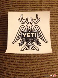 Yeti Sticker Built For The Wild Image On Imged