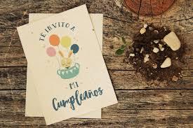 30 Invitaciones Plantables Cumpleanos Infantil Papel Reciclado