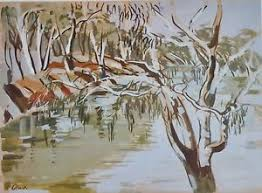 The Darling River at Bourke, by Ada Clark of Millthorpe,   eBay