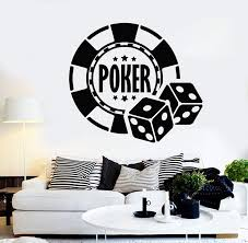Vinyl Wall Decal Poker Chips Casino Gambling Stickers Mural Unique Gif Wallstickers4you