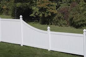 Chesterfield Swoop Privacy Fence Vinyl Privacy Fence Backyard Fences White Vinyl Fence