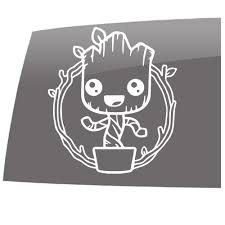 Baby Groot Color Flower Pot Guardians Inspired Entertainment 5 Year Outdoor Vinyl Sticker Decal Slomo Swag Apparel Stickers And More