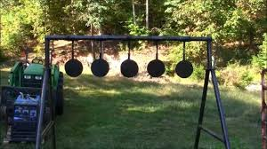 my homemade swinging targets and the