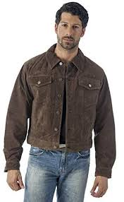 jean style suede leather shirt jacket