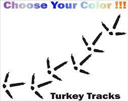 Turkey Tracks Vinyl Decal Car Window Stickers Custom Made Etsy