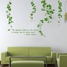 Hanging Vines Floral Wall Decal With Quote Vinyl Wall Art Diy Home Decorations Wallsymbol Com
