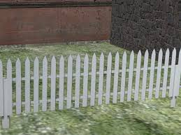 Second Life Marketplace White Wooden Super Realistic Looking Picket Fence For Builders White Picket Fence Zaun 7109