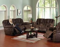 faux leather contour reclining sofa