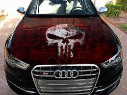 Vinyl Car Hood Wrap Full Color Graphics Decal Punisher Logo Skull Sticker 59 90 Picclick