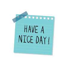 Have a nice day note illustration | Free Vector