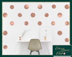 Rose Gold Dot Wall Decals Vinyl Stickers Nursery Decor Etsy