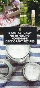 natural homemade deodorant recipes