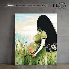 Tranh tự tô màu theo số sơn dầu số hóa Myart - Tranh về mẹ mẹ và ...