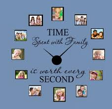 Decal Time Spent With Family Is Worth Every Second 33 Wall Decal With Decal Clock Walmart Com Walmart Com