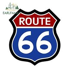 13cm X 11 8cm Route 66 Decal Sticker Red White Blue Sign Us Highway Car Bumper Window Vinyl Decal Car Stickers Wish