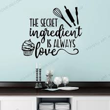 Creative Food Quote Wall Sticker Art Lettering Vinyl Wall Decal Dessert Cake Baking Shop Kitchen Interior Decor Cafe Decor Rb361 Wall Stickers Aliexpress
