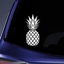 Amazon Com Bargain Max Decals Pineapple Silhouette Sticker Decal Notebook Car Laptop 5 5 White Automotive