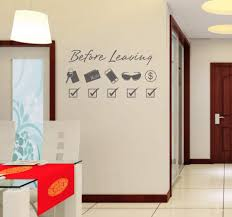 Amazon Com Wall Sticker Fashion Diy Door Stickers Before Leaving Reminder Home Decoration Decal Environmentally Sports Outdoors