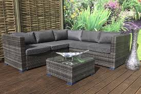 3pc carter corner rattan sofa garden