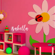 Vinyl Wall Art Decal Isabella Girls Custom Text Name Art Sticker 12 X 30 For Sale Online
